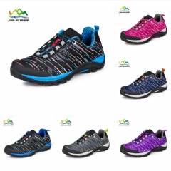 Color black 2 lovers' hiking shoes for female